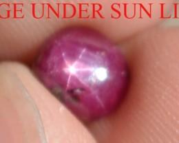 2.10 Carats Star Ruby Beautiful Natural Unheated & Untreated