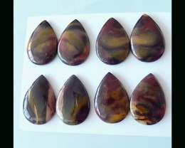 Natural Mookaite Jasper Cabochon Set -  22x14x4 MM