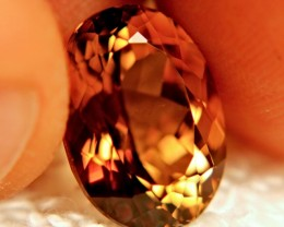 9.60 Carat VVS Golden Brown Topaz