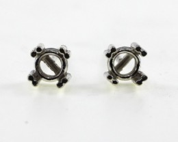 4.5-5mm Round Earring Findings Sterling Silver (925)