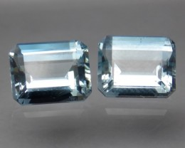6.62tcw Matching Pair Aquamarine