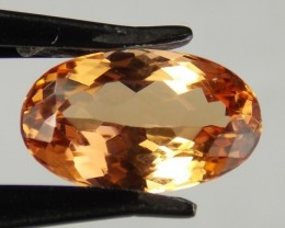 5.74ct Yellow to Red Topaz