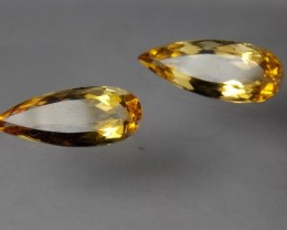 7.86tcw Matching Pair Yellow Topaz