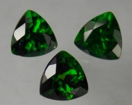 2.50tcw 3 Russian Chrome Diopside