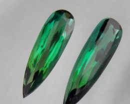 5.32tcw Green Tourmaline Pair