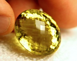 CERTIFIED - 65.73 Carat Cushion Cut VVS Lemon Quartz