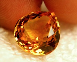 8.21 Carat VVS1 South American Golden Amber Citrine