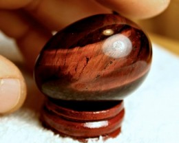 257 Carat Red Tiger Eye Egg - Cool Display