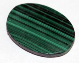 Natural Malachite  Oval cabochon Nice Marking MS01