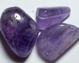 AMETHYST BEAD NATURAL (3PC) 45CTS NP-654