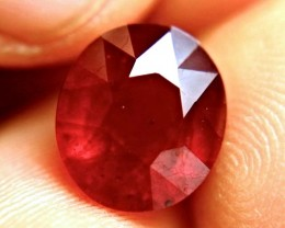 8.14 Carat Fiery Cherry Ruby - Superb