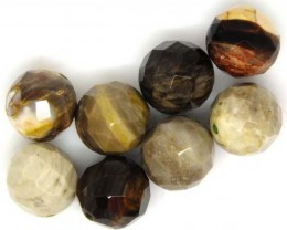 PETRIFIED WOOD BEADS, (8 PC) 68.8 CTS NP-1193