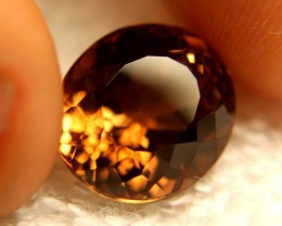 14.23 Carat VVS1 Golden Brown Brazilian Topaz - Superb