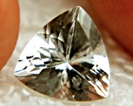 3.74 Carat VVS/VS Trillion Cut Aquarmarine - Gorgeous