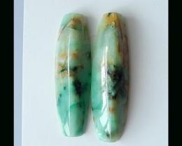 Natural Chrysocolla Cabochon - 42x12x6 MM