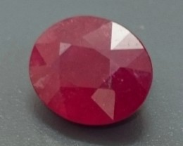 3.99ct Dark Red RUBY Gemstone Mozambique