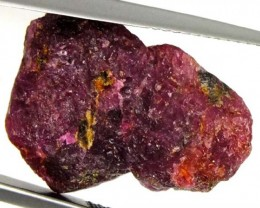 BURMA RUBY ROUGH RICH PINKY  RED  20  CTS RG-594