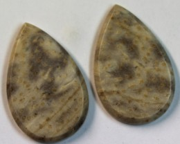 28.95 CTS JASPER PAIR POLISHED STONE GREAT RANGE IN STORE