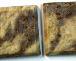 30.00 CTS JASPER PAIR POLISHED STONE GREAT RANGE IN STORE