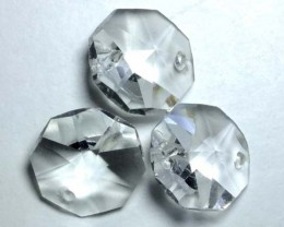 QUARTZ BEADS FACETED,DRILLED (3PC) 20.05CTS NP-1490