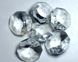 QUARTZ BEADS FACETED,DRILLED (6PC) 39.90CTS NP-1498
