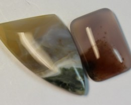 64.50 CTS 2 STONE AGATE PARCEL DEAL