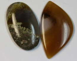49.80 CTS 2 STONE AGATE PARCEL DEAL
