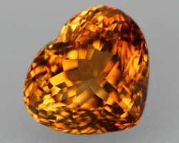 20.82ct Natural Whisky Colour Heart Cut TOP AAA Topaz