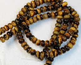 420 CTS  - 2 STRANDS TIGER EYE NATURAL POLISHED BEADS