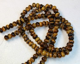 430 CTS  - 2 STRANDS TIGER EYE NATURAL POLISHED BEADS