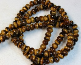 425 CTS  - 2 STRANDS TIGER EYE NATURAL POLISHED BEADS