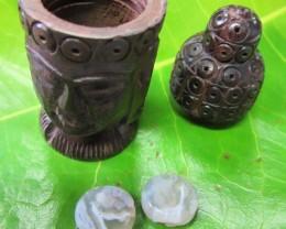Pair jasper stones in Buddha    AGR634
