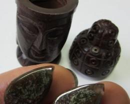 Pair jasper stones in Buddha    AGR633