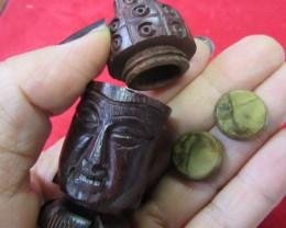 Pair jasper stones in Buddha    AGR639