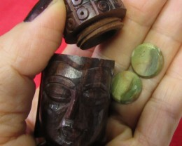 Pair jasper stones in Buddha    AGR641