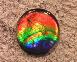 HIGHEST QUALITY RAINBOW Natural Ammolite Gem Quartz Capped