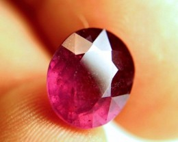 8.74 Carat Fiery Purplish Red Ruby - Superb