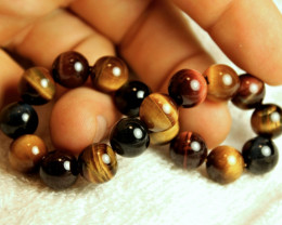 149.5 Tcw.  China Tiger Eye Strand - Bracelet Length