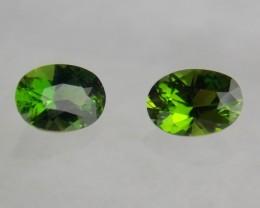 1.51tcw Chrome Green Tourmaline Pair