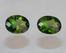 2.32tcw Chrome Green Tourmaline Pair