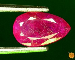 Precious 1.25 ct 100% Natural Ruby ~ Jagdalek Afghanistan