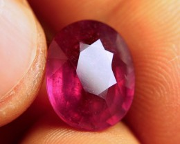 9.33 Carat Fiery Purplish Red Ruby - Superb