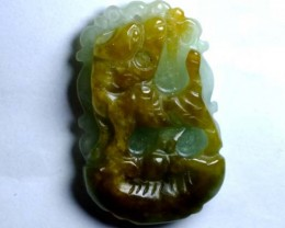 Green and yellow Jade Carving  carats ANA-2009