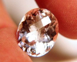 CERTIFIED - 11.22 Carat Natural South American VVS/VS Morganite
