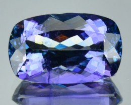 Certified! 7.16Cts Natural Tanzanite Unheat Full Certified Gem