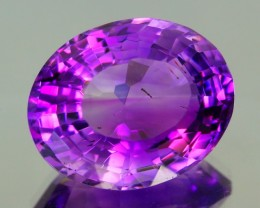 17.50Ct VS Awesome Nice VIVID Purple DESIGNER CUT Natural Amethyst