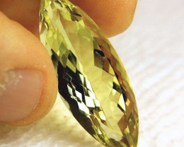 26.21 Carat Greenish Yellow Natural VVS1 Quartz - Gorgeous