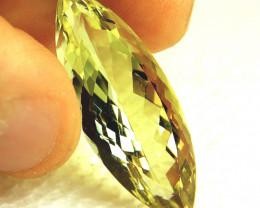 26.21 Carat Greenish Yellow Natural VVS1 Quartz - Gorgeous