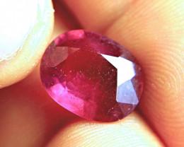 7.90 Carat Pinkish Red Ruby - Gorgeous