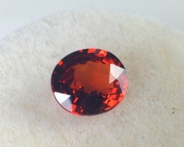 1.50 Carat Oval Cut Reddish Orange Spessartite Garnet